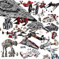 Starwars millennium imperial tie fighter blocos de construção brinquedos compatíveis crianças com star moc wars falcon brinquedos presente