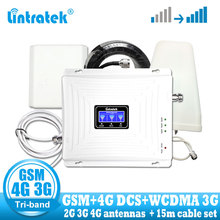 Russia 2G 3G 4G Tri Band LTE Cellular Repeater 900 1800 2100 GSM WCDMA DCS Cell Phone Signal Booster 4g Amplifier