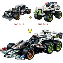 Technic SUV trucks pull back racer car moto Supercar Building Blocks F1 DIY MOC model kit Bricks Educational toys for Children цена