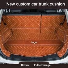 HLFNTF ใหม่ CUSTOM Car Trunk Cushion สำหรับ Renault Fluence Laguna 3 Kadjar CAPTUR Scenic 3 Logan Sandero กันน้ำรถอุปกรณ์เสริม