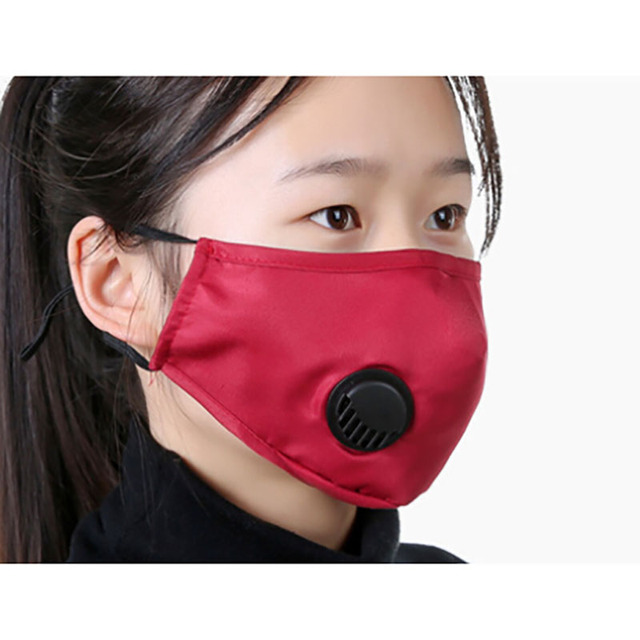 Cotton PM2.5 anti dust mask Black mouth Mask Activated carbon filter Windproof Mouth-muffle bacteria proof Flu Face masks Care