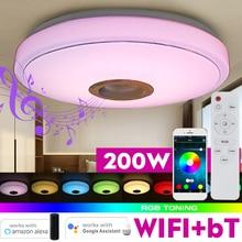 Music-Light Ceiling-Lamp Remote-Control LED Modern Rgb Bluetooth Wifi 200W