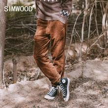SIMWOOD 2020 Autumn Winter New Corduroy Loose Tapered Pants Men Plus Size Hip Hop Casual Trousers Brand Clothing SJ131261