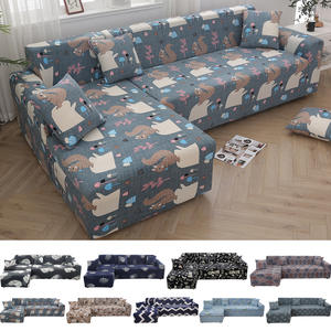 L shape Print Corner Sofa Cover Elastic Couch Cover for Sofa Sectional L Shaped Sofa