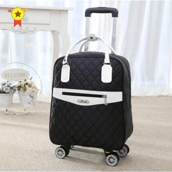 """Universal wheel trolley case,Boutique luggage,Oxford suitcase,Multi-function double shoulder bag,Travel tote,20""""boarding box"""