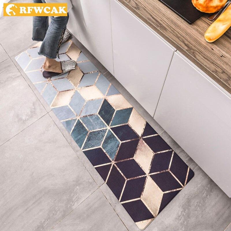 Tapis de cuisine RFWCAK tapis de sol en cuir PVC grands tapis de sol paillassons chambre Tatami imperméable à l'huile tapis de cuisine