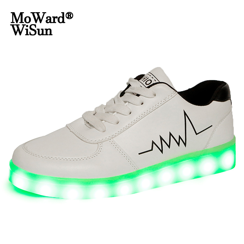 Size 30-44 Children Casual Shoes With Lights USB Charge Luminous Sneakers for Kids Boys Glowing Led Shoes Girls Lighted Shoes