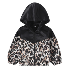 1Pc Baby Boy Girl Spring And Autumn Long Sleeve Leopard Print Hooded Coat Warm C
