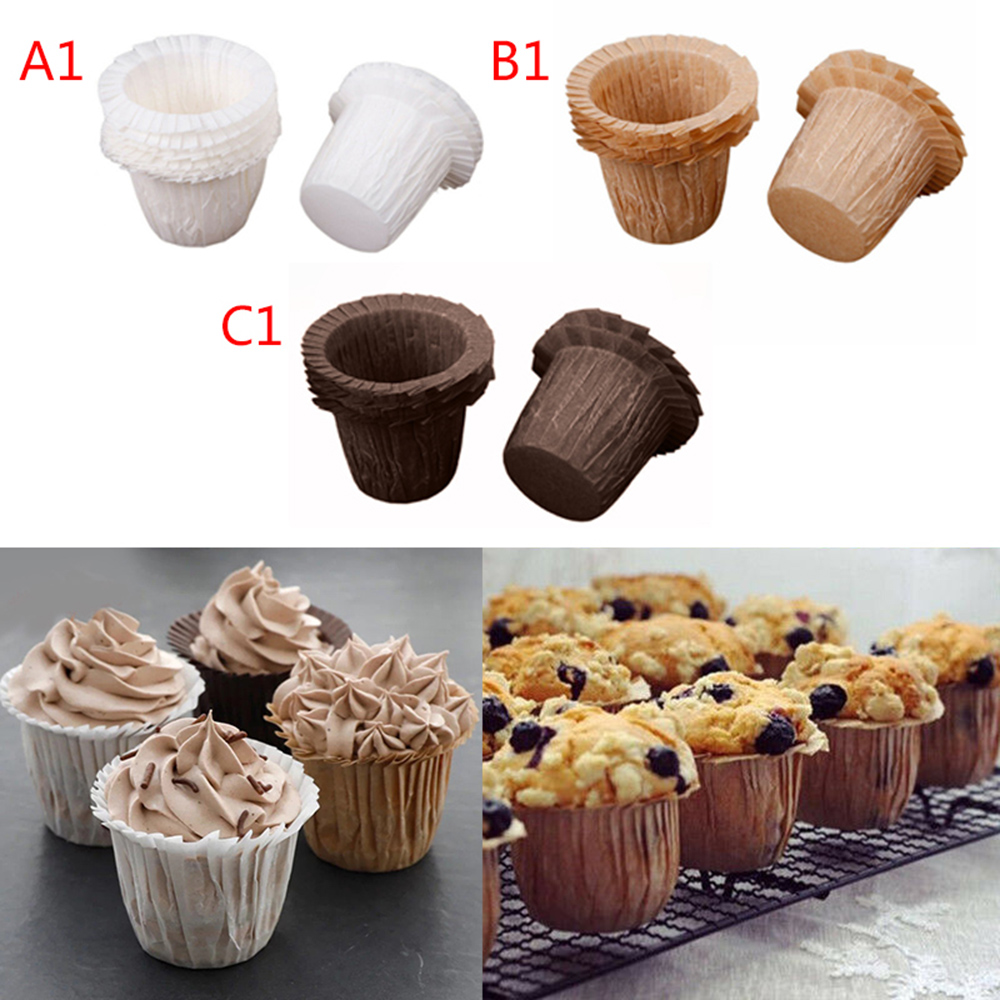 Mason Cash Paper Cup Cake Tulip Muffin Wraps Cases Cups Chocolate Brown Pk 12