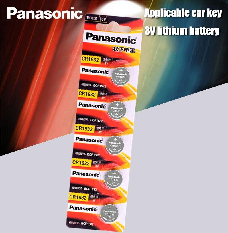 5 шт. Panasonic cr1632 Кнопочная батарея для монет 3 в часы с пультом дистанционного управления ключи для автомобиля DL1632 ECR1632 GPCE1632 литиевая батарея