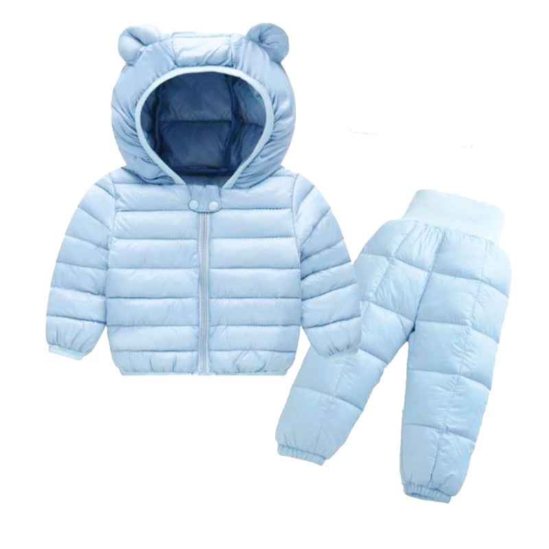 2021 Winter Children Clothing Sets Baby Boy Warm Hooded Down Jackets Pants Clothing Sets Baby Girls Boys Snowsuit Coats Ski Suit