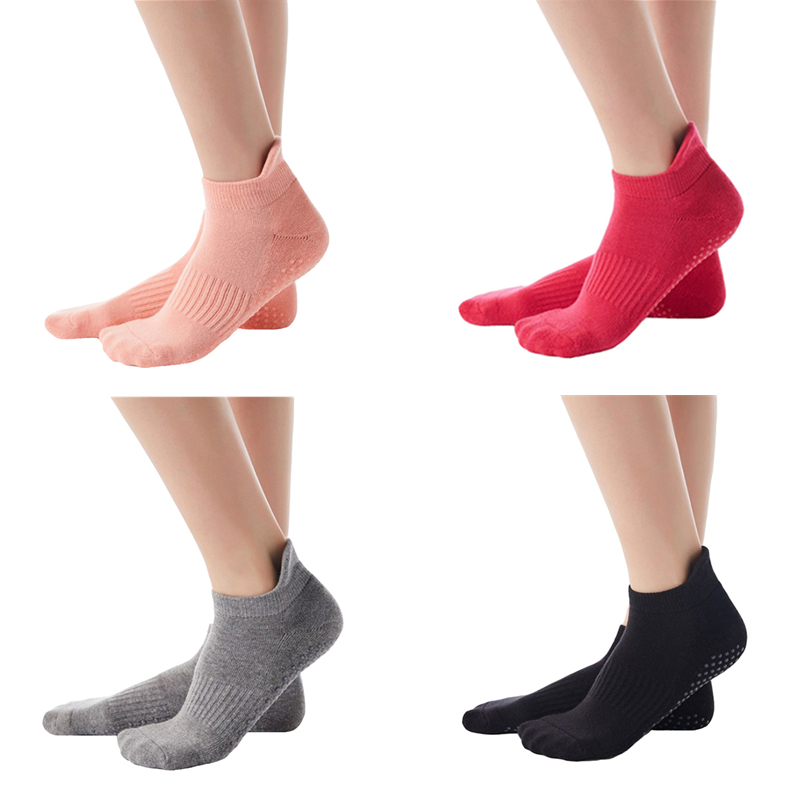 3 Pair/Lot Men Women Non-slip Yoga Socks With Grips Breathable Anti Skid Cotton Floor Socks For Pilates Gym Fitness Barre