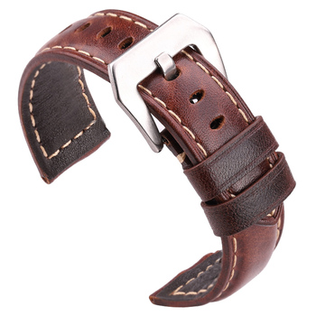 Genuine Leather Watchbadns 20mm 22mm 24mm Dark Brown Woemn Men Cowhide Watch Band Strap Accessories - discount item  64% OFF Watches Accessories