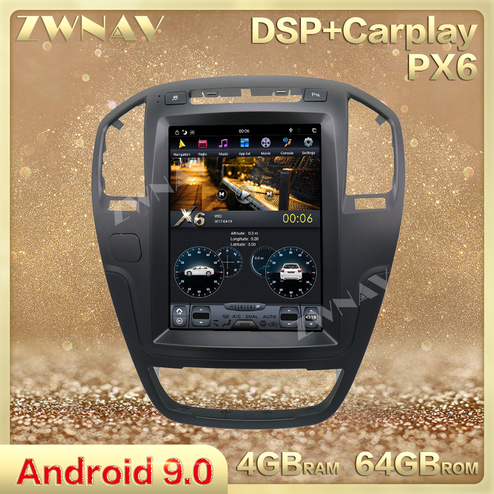 Tesla Style Big Screen Android 9.0 Car Multimedia Player For Opel Insignia Vauxhall Holden 2008-2013 Car GPS Navi Radio Stereo