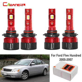 Cawanerl 4 X Car LED Bulb Headlight Low Beam High Beam 9000LM White 6000K 12V Auto Headlamp For Ford Five Hundred 2005 2006 2007 фото