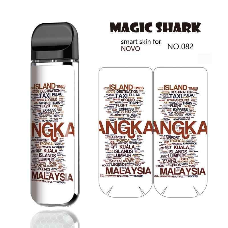 ماجيك القرش ماليزيا البابون الله المسيحي ورقة التمتع PVC حالة غطاء ملصق ل Smok نوفو E السجائر Vape عدة