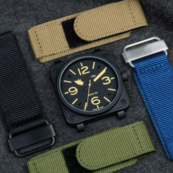 Applicable for P-an-rai B& R Nylon Velcro BR Watch Band Rugged Outdoor 24mm nylon watch band