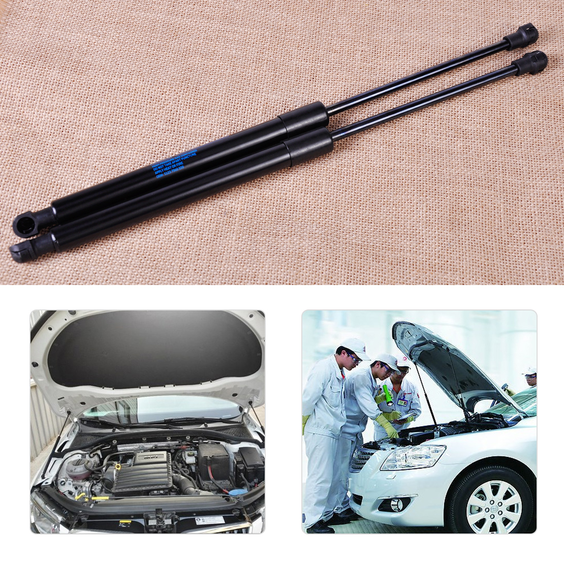 2 Left Right Trunk Lid Lift Support Shocks Struts Set for BMW E46 Coupe//Sedan
