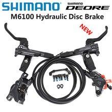 New SHIMANO DEORE M6100 2 piston M6120 4 piston Brake MTB Mountain Bikes Hydraulic Disc Brake MTB BR BL-M6100 DEORE Brake