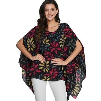 BHflutter Plus Size Blouses Women Shirts 2020 Floral Print Batwing Casual Chiffon Blouse Shirt kimono Summer Tops vetement femme 1