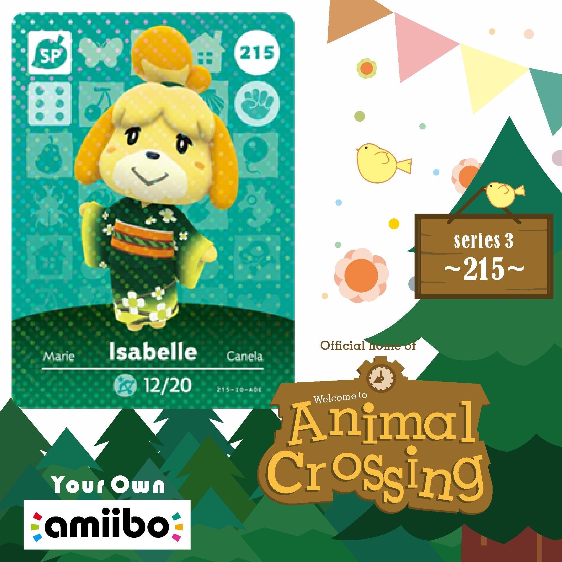 Welcome Amiibo Card Cards Animal Crossing Isabelle Isabel Animal Crossing Amiibo Card Series 1 Amino Cards For Animal Crossing