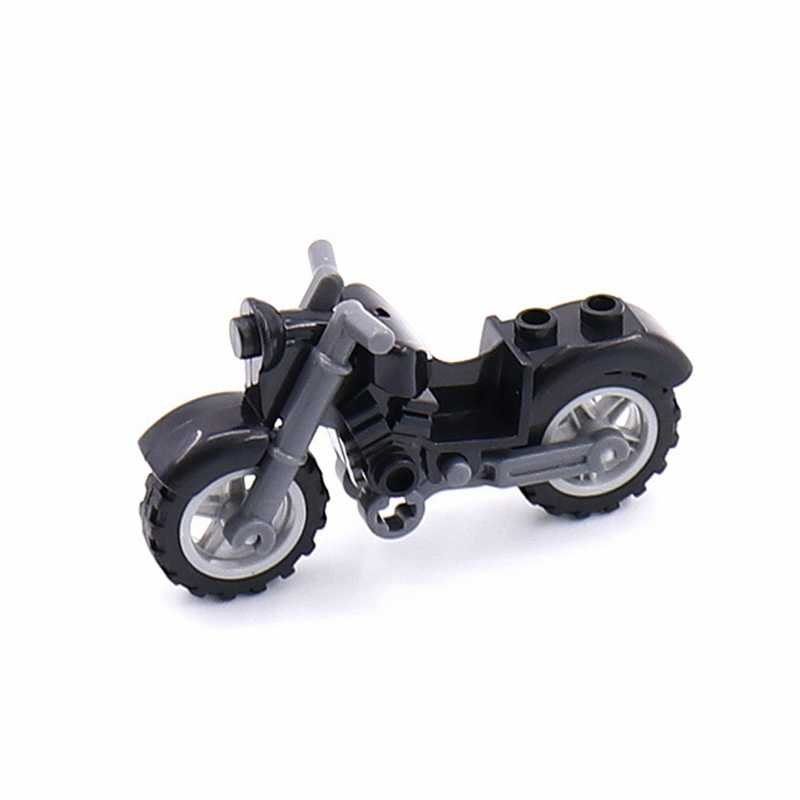 ทหาร Cross Country รถจักรยานยนต์กองทัพทหาร SWAT อาวุธปืนตำรวจเมืองบล็อกอาคารอุปกรณ์เสริม WW2 ของเล่นเด็ก