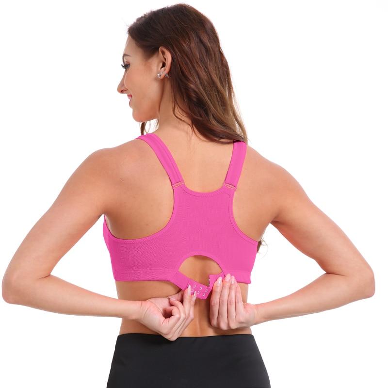 Women's Zipper Push Up Sports Bra 11