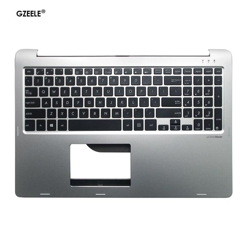 English Laptop Keyboard For ASUS TP500L TP500LA TP550L TP550LB TP550LU US Layout Palmrest Upper Cover