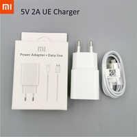 Original Xiaomi cargador de viaje adaptador de corriente de la ue micro fecha usb cable para redmi 7a 7 s2 2a 6 pro nota 2 4 5 6 4X 5A mi A1 A2 lite