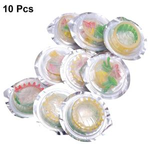 10pcs Colorful Flower Natural latex Condoms Safe Penis Sleeve Adult Sex Life Supplies Ultra-Thin Health Products (Small Flower)