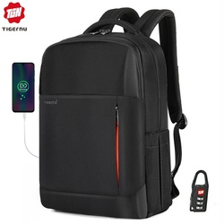 2020 Tigernu nueva moda RFID antirrobo hombres 15,6 pulgadas mochila para portátil carga USB masculina femenina impermeable Mochilas escolares
