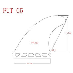 Image 5 - 5 個/4 個フィンセット Upsurf 将来フィン G5 + GL サーフボードフィングラスファイバーハニカムクワッドフィン Quilhas スラスタ