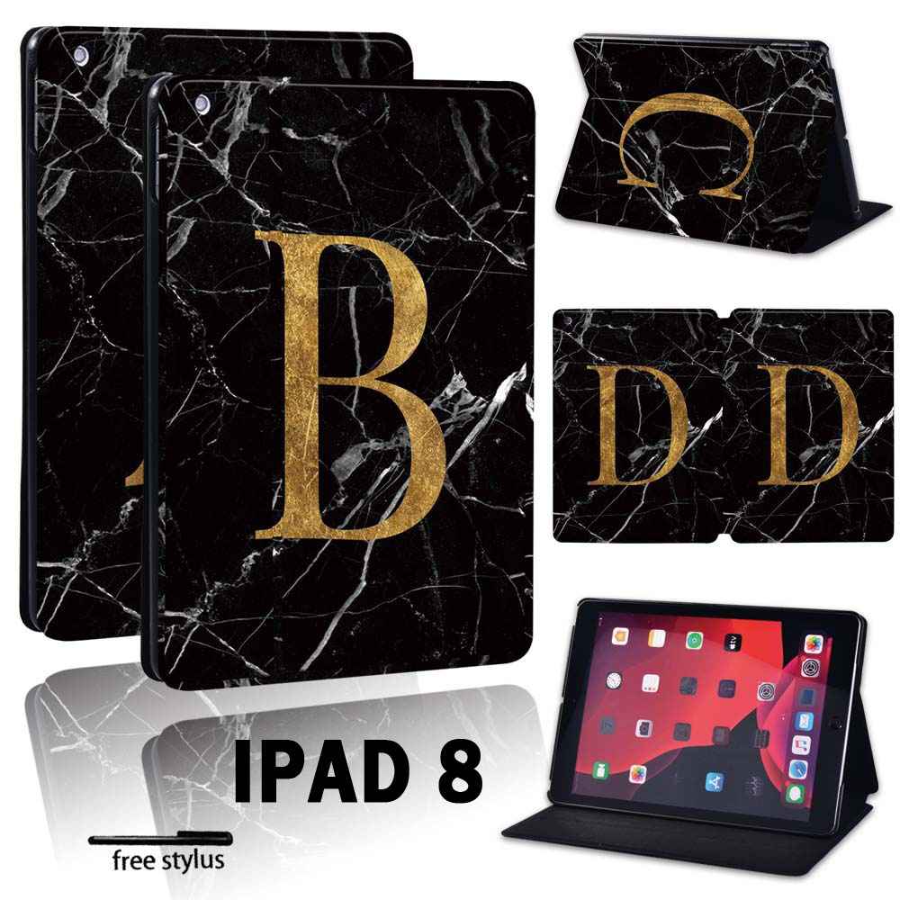 For Apple iPad 8 10 2 2020 8th 8 Generation A2428 A2429 Printing initia letters PU