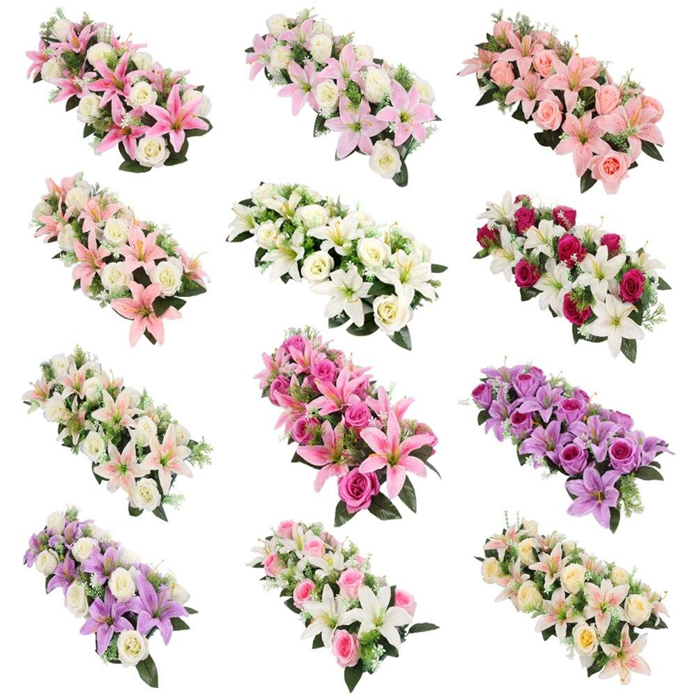 Искусственная искусственная АРКА, цветок, настенная Арка лилии, высокая имитация розы «сделай сам», свадьба, дорога, свинцовая вечеринка, Ро...