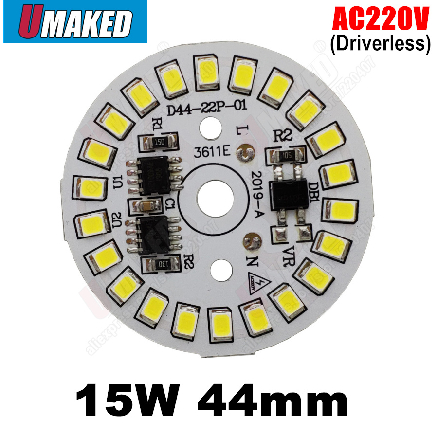 15W 44mm ac <font><b>220v</b></font> led pcb SMD2835 <font><b>3w</b></font> 5w 7w 9w 12w integrated ic driver, Led smart IC SMD, Led Light Source For LED Bulb image