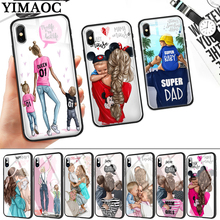 Super Mom Dad And Baby Glass Phone Case for Apple iPhone 11 Pro XR X XS Max 6 6S 7 8 Plus 5 5S SE