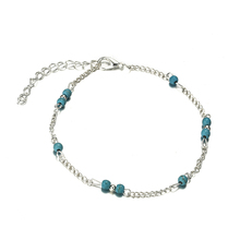 Bohemia Trendy Simple Anklets For Women Chain Beads Silver Color Foot Bracelets Lady Anklet Fashion Jewelry