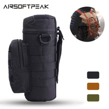 Tactical Water Pouch Molle Water Bottle Pouch Military Gear Kettle Waist Shoulde