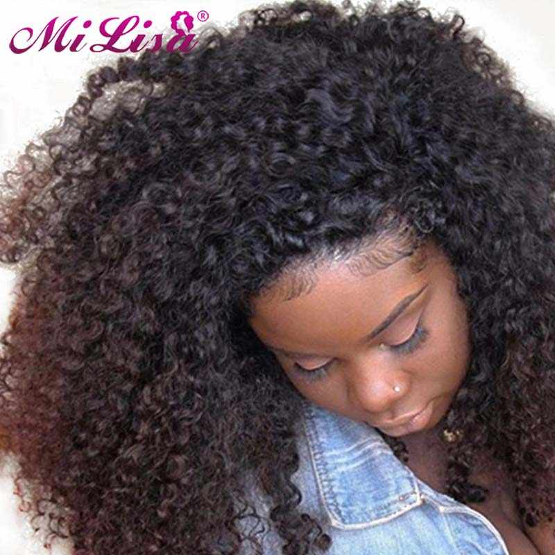 Afro Kinky Curly Clip In Human Hair Extensions Brazilian Clip-Ins Full Head 8 Pcs/Set 120G Remy Hair Mi Lisa Nautral Color 3B 3C
