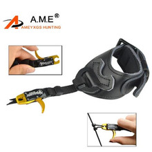 Archery Bow Release Compound Arc Aids Trigger Caplier  Wrist Strap Triggers Adjustable Wristband Hunting Accessories