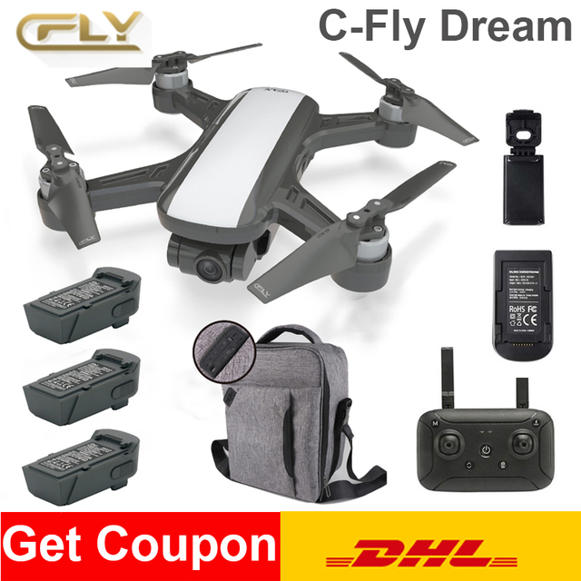 C Fly DREAM Camera Drone Selfie RC Quadcopter With with GPS FPV Real time HD