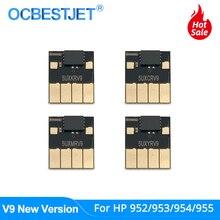 Новый чип дуги V9 для HP 952 953 954 955 952XL 953XL 954XL 955XL, для HP Officejet Pro 7740 8210 8710 8720 8730 8740, постоянный чип