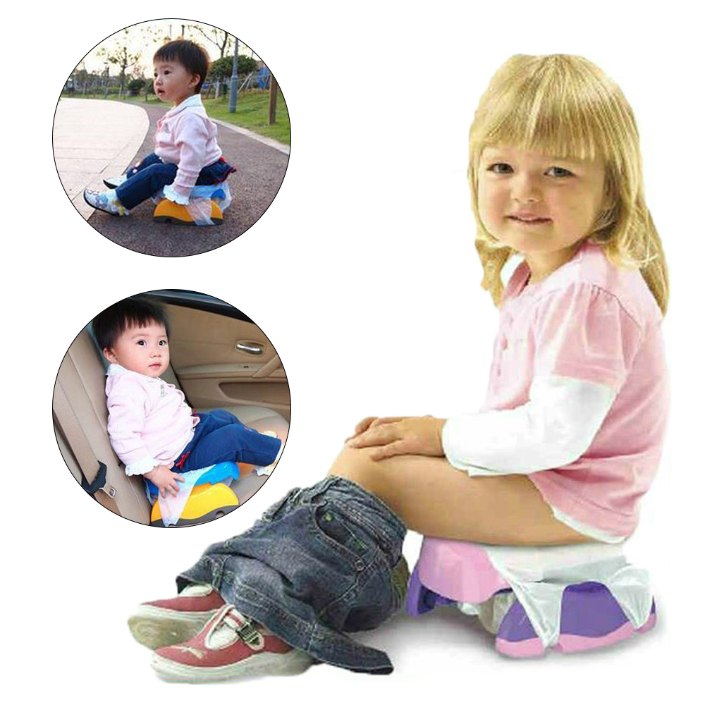 Baby Travel Potty Seat Portable Infant Chamber Pots Foldaway Toilet Training Seat Kids Travel Urinal Potty Rings With Urine Bag