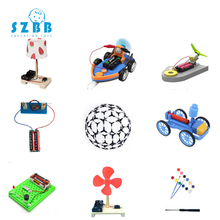 купить 2019 Real Saizhi 9 Set Kids Diy Physical Science Experiment Kit School Projects Toy Children Assemble Model Stem Education Kits по цене 6005.1 рублей