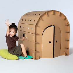 Children Assembly Big Paper House Graffiti Creative Handmade DIY Parent-Child Colour Insertion Toy Game House