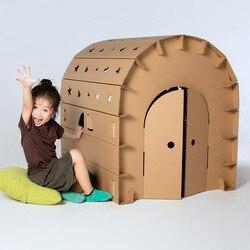 Kinderen Assemblage Grote Papier Huis Graffiti Creatieve Handgemaakte DIY Ouder-kind Kleur Inbrengen Speelgoed Spel Huis