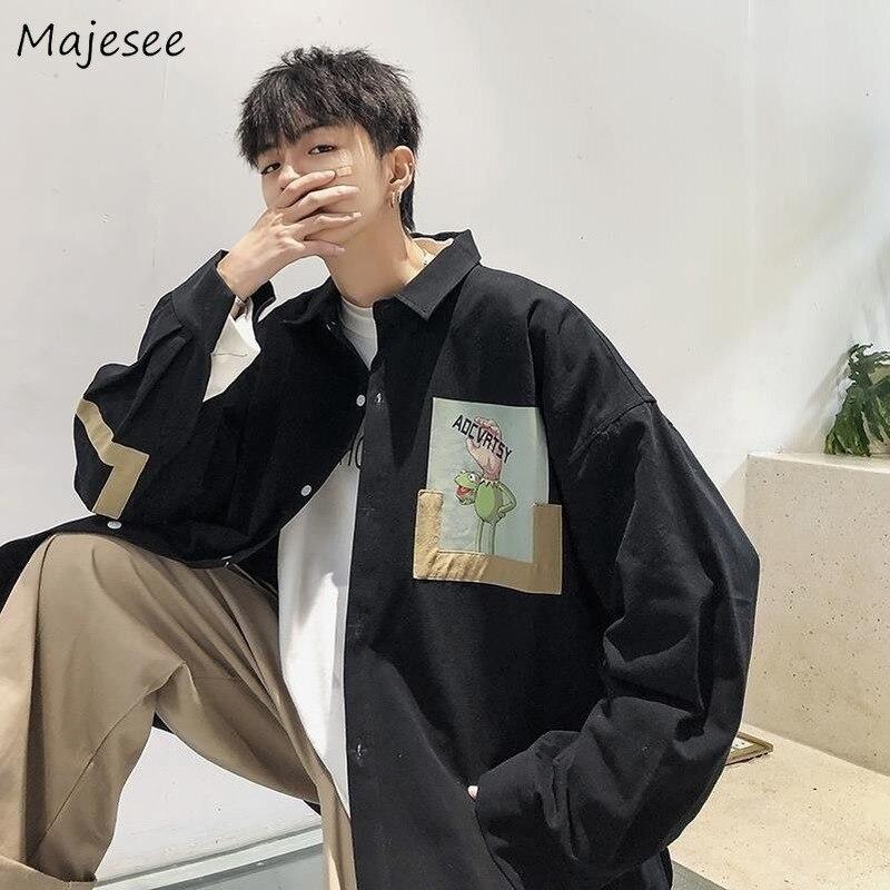 Jacket Men Plus Size Japanese Streetwear Vintage Loose Autumn Printing Clothes Mens Jackets and Coats Hot Sale Black Coat Soft