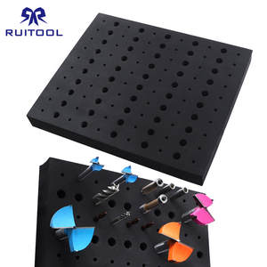 110 Holes Router Bit Storage Tray 13*11 inch EVA Tool Organizer 1/4'' 1/2'' Shank Milling Cutters Drill Bit Holder