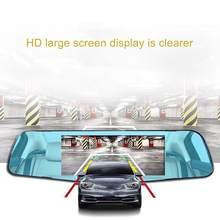 Rearview Mirror Tachograph 3.6 Inch High-definition Night Vision Dual Lens Reversing Video Parking Surveillance(China)