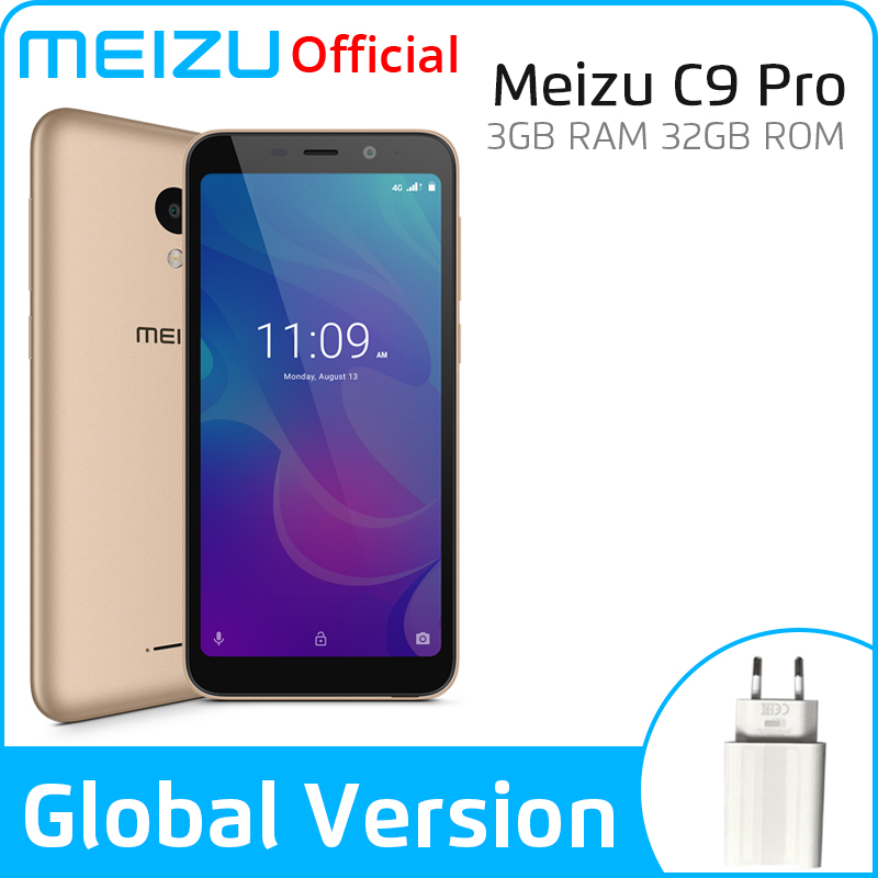 Meizu C9 Pro 3GB 32GB Global Version Mobile Phone Quad Core 5.45 Inch 1440X720P Front 13MP Rear 13MP 3000mAh Battery